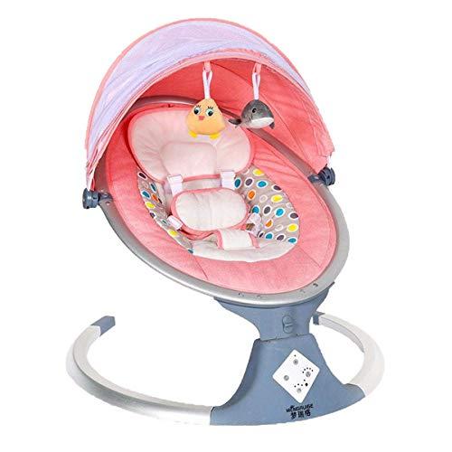 Baby Bootcer, silla mecedora del bebé eléctrica con cojines y muñecas transpirables, balancín infantil con mosquitera plegable extraíble, ajuste de cinco velocidades, sincronización inteligente (15, 3
