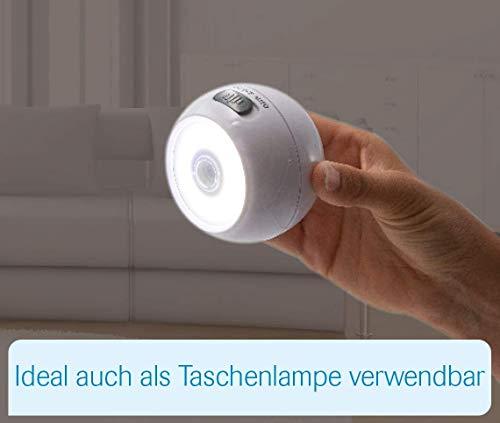 Mediashop Handylux Light-Ball LED Powerlicht- Ball - 360 Grad drehbar - magnetisch - Batterie-Leuchte   Taschenlampe - Bewegungssensor - Nachtlicht - Safe Touch Oberfläche - 4 Stück - 7