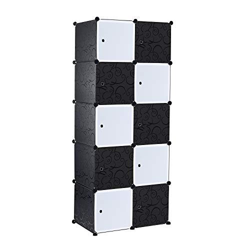 Ribelli Garderobe Kleiderschrank Kleiderstange modularer Kombischrank Steckregal (10 Würfel)