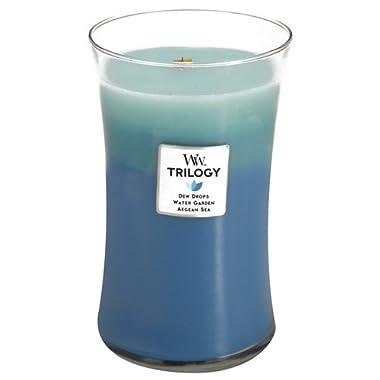 WoodWick Gentle Rain Trilogy Fragrance Jar Candle, Large