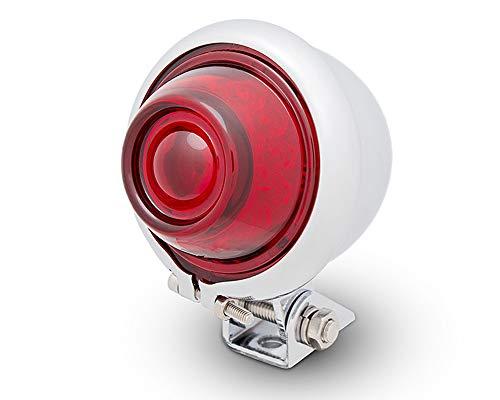 Moto LED Fanale Posteriore Semaforo Bates Stile Per Vintage Retrò Progetto di Personalizzazione - Cromato