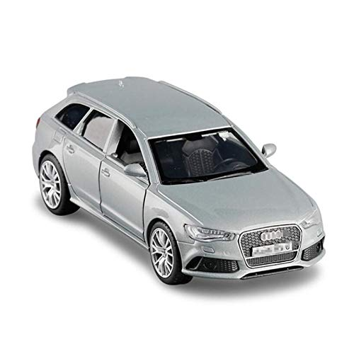 Diecast Model Car 1:36 Nuevo para Audi RS6 para la simulación de vagones Alloy Aleación Modelo de coche Puerta abierta Metal METAL MODELO MODELO DE COCHE DE JUEGOS DE NIÑOS Regalos (Color: Azul) wmpa