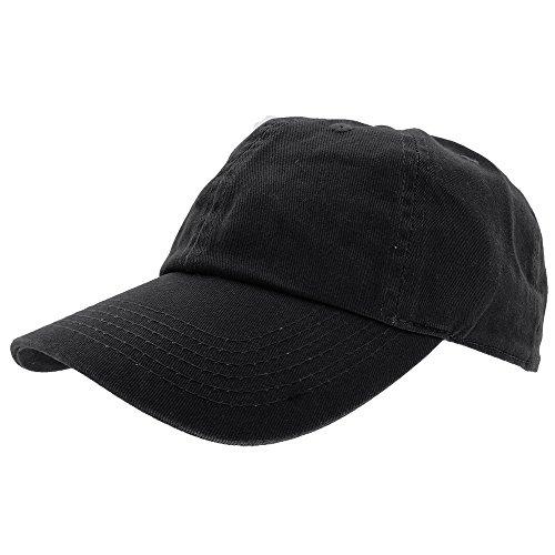Gelante Baseball Caps Dad Hats 100% Cotton Polo Style Plain Blank Adjustable Size. 1801-Black