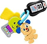 Fisher-Price Laugh & Learn Play & Go Keys, musical learning toy for babies and toddlers ages 6-36 months