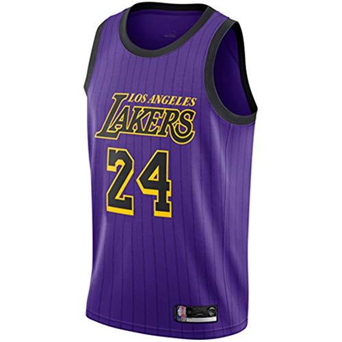 EDFG Camiseta de Baloncesto para Hombre- Lakers, Nº 24 Camiseta de Baloncesto Kobe Bryant Mesh Basketball Swingman para Hombre