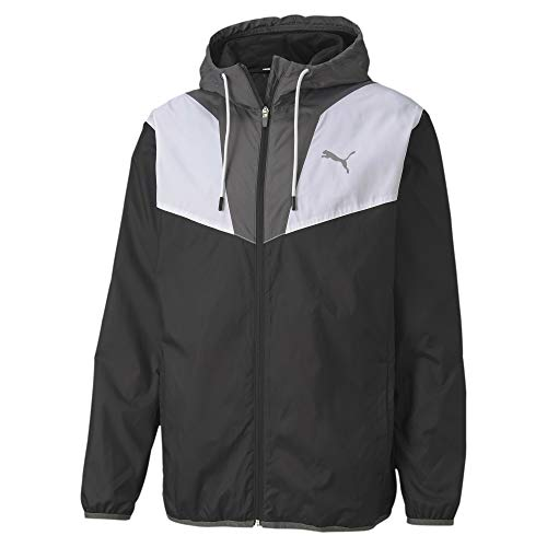 PUMA Herren Trainingsjacke Reactive Woven, Black/CASTLEROCK/White, M, 518980
