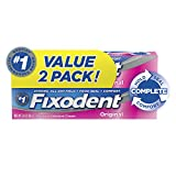 Fixodent Complete Original Denture Adhesive Cream, 2.4 oz TWIN