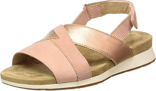 Hush Puppies Paddy N9101, Sandales Bout Ouvert Femme, (Rose Clair 131), 41 EU