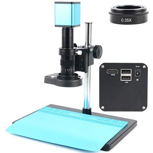Yhtech Juego Completo 1080p Industria AutoFocus IMX290 MEDICIÓN C MOMBROS DE Video Cámara de Video U RECORDOR DE Disco para LA Soldador DE PCB (Color : A)