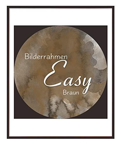 Homedeco-24 Easy Kunststoff Bilderrahmen 20x70 cm 70x20 cm Farbwahl: Hier Braun mit Antireflex-Acrylglas
