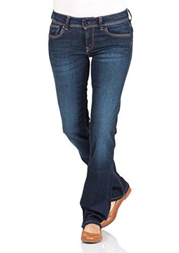 Pepe Jeans Damen Saturn Jeans, 10Oz STR 8Dip Royal Dk H06, 24W / 34L