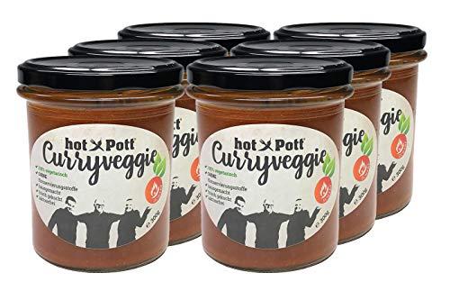 hot Pott Curryveggie - die Scharfe - 6 x 300g vegetarisches Fertiggericht OHNE Konservierungsstoffe & laktosefrei frisch gekocht nach hauseigenem Rezept zu einem TOP-Preis!