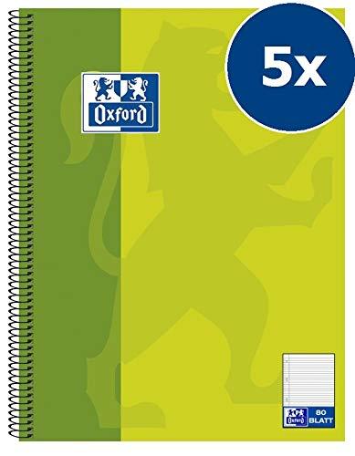 Hamelin 384508027 Oxford - Lote de cuadernos (5 unidades, A5