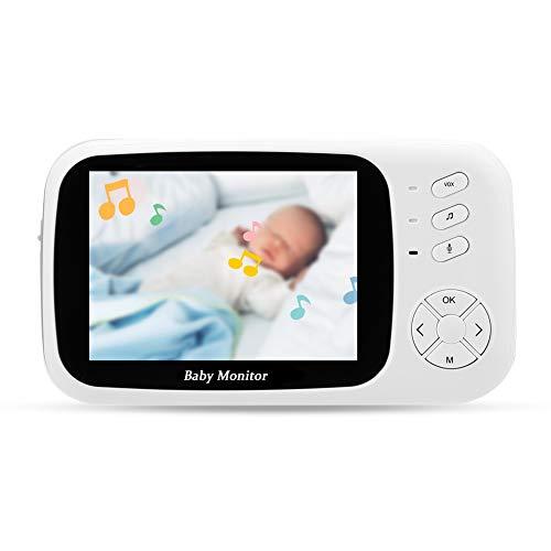 Monitor del Sueño del Bebé, Cámara Inalámbrica del IR del Monitor del Bebé De 100-240V 3.5inch para El Hogar para El Bebé(Default)