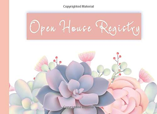 Open House Registry: A Visitor sign-in book for Realtors.