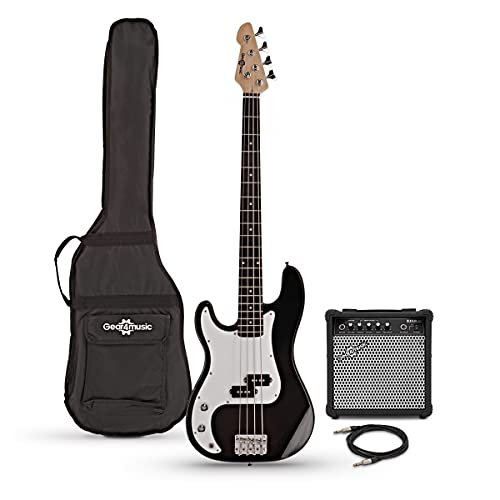 Left Handed Bass Guitar Pack LA by Gear4music with 15W Amp