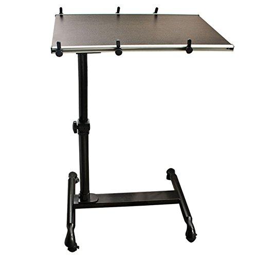 SoBuy® FBT07N-BR Table de lit avec Plateau inclinable pour Ordinateur Portable reglable en Hauteur Couleur ronce de Noyer