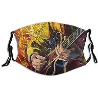 Cubierta de nariz reutilizable unisex Manos de guitarristas de jazz tocando la guitarra con ilustraciones de fantasía m Tapones para el polvo Tapones para los oídos ajustables con filtro reemplazable