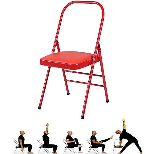 Find Bargain SAJyj Backless Yoga Chair Prop - Flexibility and Strength Training Tool (Color : Red)