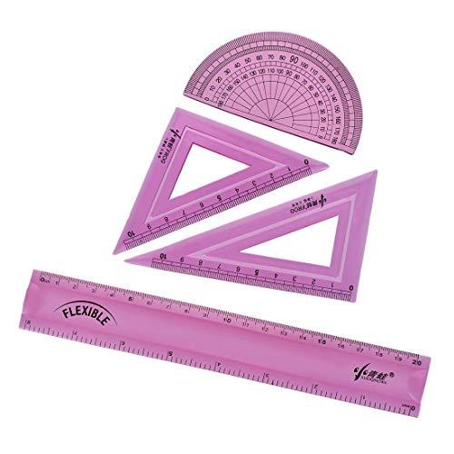 Juego de herramientas de medición flexibles con transportador 30/60 45 Triángulo Regla 20 cm Regla derecha 8 pulgadas