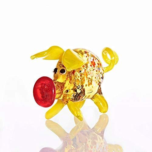 CRISTALICA Schwein Midi 6-8cm Glas Tiere Figuren Sammeln Vitrine Miniatur Bauernhof