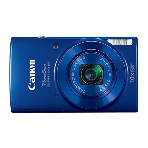 Canon PowerShot ELPH 190 IS Digital Camera (Blue) with 10x Optical Zoom and Built-In Wi-Fi