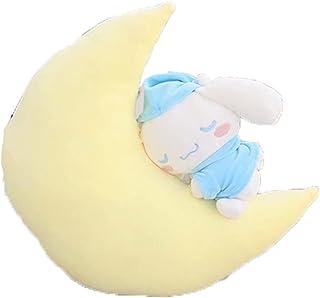 Kuromi Pillow Moon My Melody Doll Cinnamoroll Gift Pom Pom Purin Cushion Doll Birthday Gift Stuffed Animal (Color : Blue)