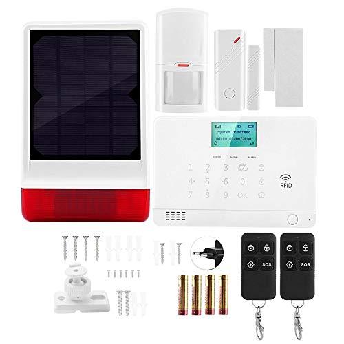 Sirena de luz de Sonido, excelente Alarma de casa de Material ABS, Elegante Sistema antirrobo para(European Standard (110-240V))