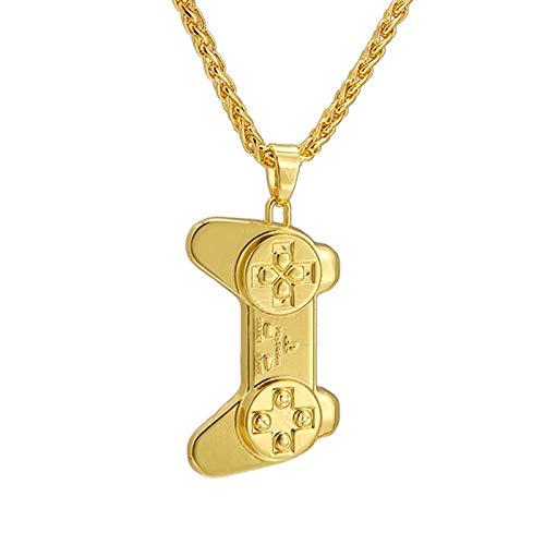 Hip Hop Game Controller Halskette & Anhänger Gold/Stahl/Schwarze Farbe Vintage Amerikanischen Stil Steampunk Männer Kette Schmuck
