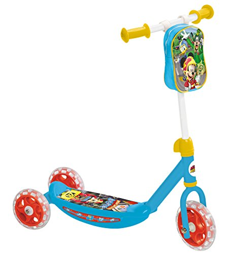 """Mondo Mouse and The Roadster Patinete 3 Ruedas Mickey Racers, Multicolor, 10"""" (18994)"""