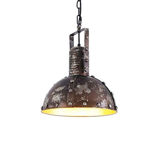 GYC Industrial Pendant Light Vintage Loft Kitchen Island Hanging Chandelier Shabby Metal Finished Shade Fixture E27 Socket Adjustable Height for Dining Table, Bedroom, Dining Room