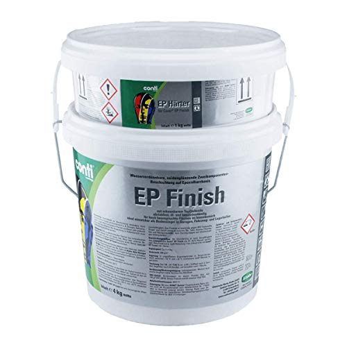 Conti EP Finish 2k Garagen-Bodenbeschichtung - Betonfarbe - Bodenfarbe (Kieselgrau RAL 7032)