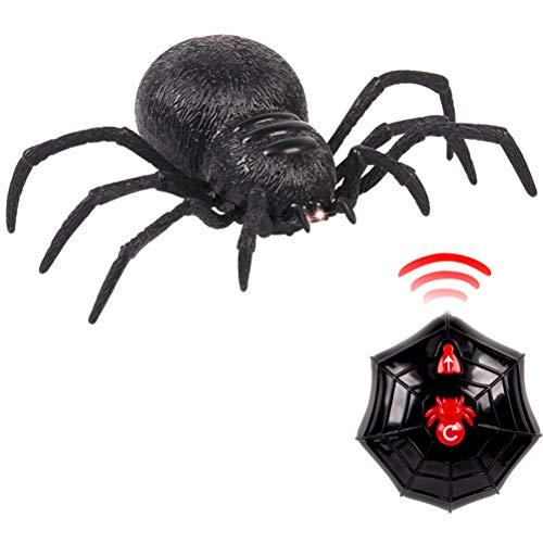 Ysoom RC Spinnen Spielwaren, Ferngesteuerte Spinne scherzt Spielzeug Spinnen Halloween Partei Geschenk Deko, Riesenspinne mit Fernbedienung