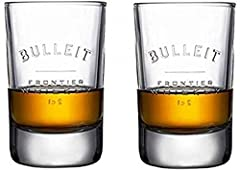 "bulleit bourbon tumbler glasses size 4.25""tall x 2.5 "" wide Set of 2 Signature Bulleit Bourbon Tumblers Glass Mimics shape of Bulleit Bottle 4.25"" tall x 2.5 "" wide 200 ML"