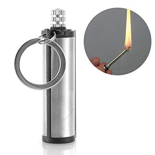 Roawon Porte-clés pour Allume-feu d'urgence, Match éternel, Allumette en métal, Silex, Camping, Barbecue, Allumette permanente