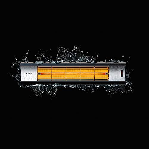 Veito Aero S Infrarot Heizstrahler , Leistung bis zu 2500 Watt , Infrarot-Fernbedienung , Terrassenheizer mit 4 Heizstufen , spritzwassergeschützt , Infrarot-Heizung für Innen- und Außenbereich , elektrischer Infrarotstrahler - 2