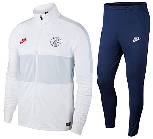 Nike Herren Dri-Fit Paris Saint-Germain Strike Hose XL weiß/Mitternachtsmeeresblau/University Rot