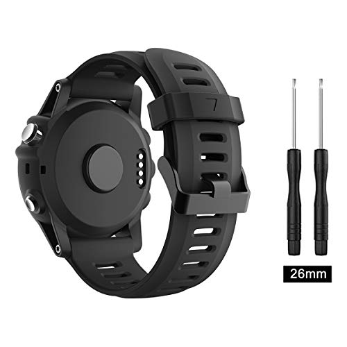 TOPsic Garmin Fenix 3 / Fenix 5x Sport Watch Armband - Silikon Sportarmband Uhr Band Strap Ersatzarmband Uhrenarmband mit Werkzeug für Garmin Fenix 3 / Fenix 3 HR GPS Smart Watch