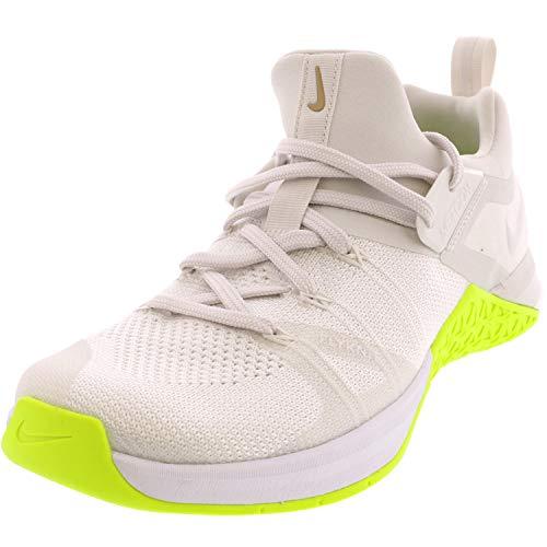 Nike Wmns Metcon Flyknit 3, Scarpe da Fitness Donna, Bianco Lime White Volt Linen 117, 41 EU
