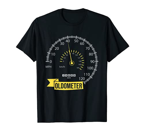Oldometer 40th Birthday Forty 40 Years Old Born 1980 Gift T-Shirt