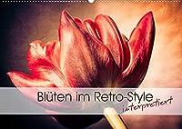 Blueten im Retro-Style (Wandkalender 2022 DIN A2 quer): Einzigartige Fotografien von Blueten im Retro- und Vintage-Style interpretiert (Monatskalender, 14 Seiten )