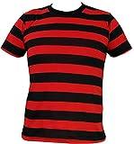 Rock Star Academy Camiseta de rayas negras y rojas