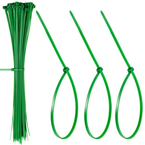 Shappy Christmas Garland Ties Green Nylon Cable Zip Ties 12 Inch Reusable and Flexible Twist Ties for Garland, Banisters and Home Decoration (50 Pieces)