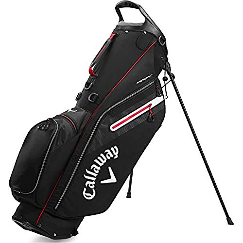 Callaway Golf 2020 Fairway C Stand Bag (Black/Silver/Red, Double Strap)
