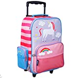 Wildkin Kids Rolling Suitcase for Boys & Girls, Suitcase for Kids Measures 16 x 11.5 x 6 Inches, Kids Luggage is Carry-On Size, Perfect for School & Overnight Travel, BPA-free (Unicorn)
