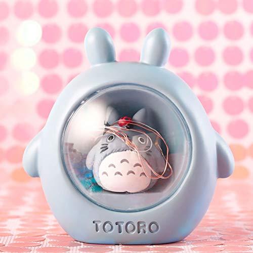 Linda Totoro No Cara Hombre Noche Ligero El Viaje de Chihiro Hayao Miyazaki Noche Lámpara para casa Mesa Dormitorio Navidad Decoración Nuevo Regalo de año,05