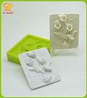 Rose plaster hand mold tulip silicone soap mold lily fragrance mold Rose tulip lily silicone molds : C