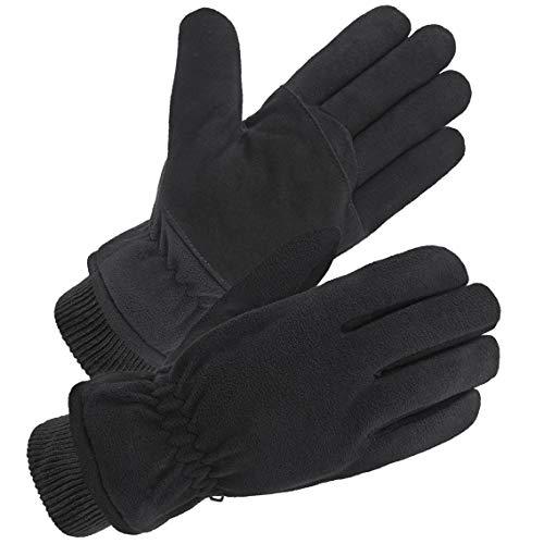 SKYDEER Winter Gloves with Premium Genuine Deerskin Suede Leather and Windproof Polar Fleece (SD8661KW/XL)