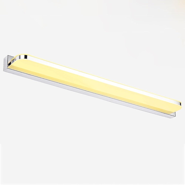 Hyun times Spiegel frontleuchte edelstahl acryl led 52  4,5 cm feuchtigkeitsdichten nebel badezimmer make-up eitelkeit spiegel vorne wandleuchte (Farbe   Warmes Licht)