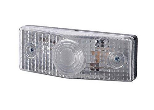 1 x Weiß Begrenzungsleuchte Seitenleuchte 12V 24V mit E-Prüfzeichen Positionsleuchte Umrissleuchte Anhänger Wohnwagen LKW PKW Leuchte Licht Birne